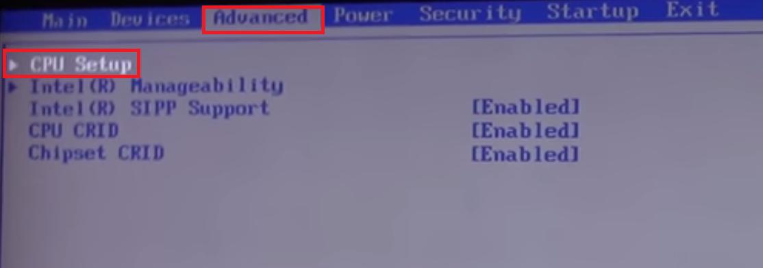 BIOS-nastroika VMware-3